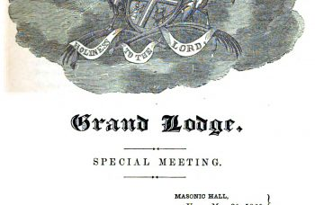 Proceedings of the Grand Lodge of Free and Accepted Masons of the State of New York – 1860