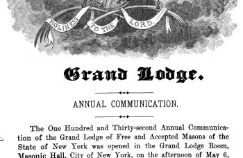 Proceedings of the Grand Lodge of Free and Accepted Masons of the State of New York – 1913